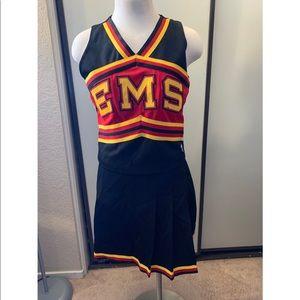 High school cheerleading uniform costume
